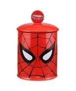 Marvel Comics Spider-man Ceramic Cookie Jar Red Vandor - $56.87