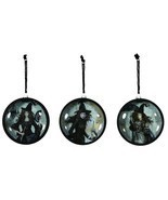 Nostalgic Style Black Magic Witch Woman Halloween Ornaments Fan Umbrella... - £9.70 GBP