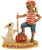 Cloudworks MATEY'S FOREVER Happy Halloween FIGURINE Pirate Boy Pumpkin R... - £14.40 GBP