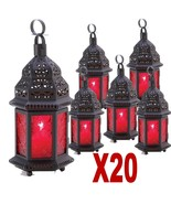 20 Red Moroccan Candle  Lanterns Party Events Wedding Centerpeices 13245 - $174.88