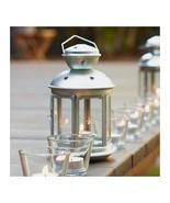 Hanging Silver Galvanized Steel Cutout Stars Candle Lantern - $15.95