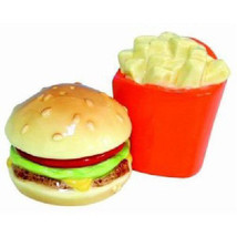 Westland Giftware Mwah! Fries & Hamburger Magnetic Salt Pepper Shakers 9... - $15.95