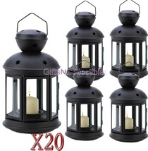 20 Matte Black Colonial Votive Candle Lamps Wedding Centerpieces Events - $164.19