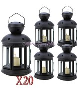 20 Matte Black Colonial Votive Candle Lamps Wedding Centerpieces Events - $164.19
