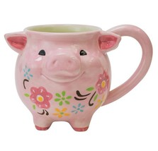 Boston Warehouse Pink Pig Figural Coffee Mug 18... - $11.49
