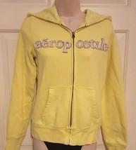 Aeropostale Hooded Fleece Jacket Lime Green 2 Pocket Zip-Up Warm Up Size... - $19.78