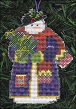 Yule Snow Folks Ornament kit christmas perforated paper cross stitch kit - $5.40