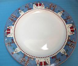 4 Snowman⛄️ Dinner Plate Debbie Mumm by Sakura Holiday Christmas Decor S... - $43.95