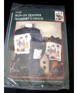 Plaid Iron-On Transfer Garden Blessings Santa Christmas Design by Dianna... - $8.50