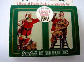 Coca Cola  Coke Nostalgia Playing Cards Santa Claus 2 Decks Limited Edition 1995 - $14.95