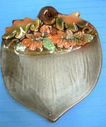 Fall Thanksgiving Acorn Candy Plate Dish Ceramic Autumn Decor - $24.87
