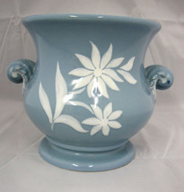 "Abingdon USA #559 Planter Deco Style Vase Hollywood Regency Blue 5.5"" Tall - $42.17"