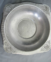 Vintage Serving Bowl Hammered Aluminum Continental Silver Co. Wild Rose-... - $26.55