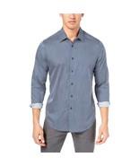 Tasso Elba Men's Medallion-Print Shirt Navy Combo Small - $29.21