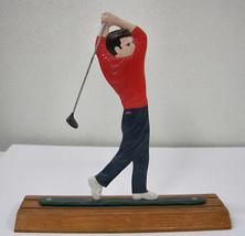 Whitehall Metal Country Golfer Bell Mailbox Topper Desk Card Holder Alum... - $29.91