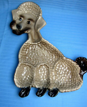 California USA Pottery Poodle Dog Ceramic Collectible Wall Hanging Tray ... - $83.00