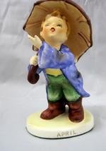 Lefton Figurine April Showers Boy with Umbrella #2350 - $24.95