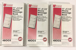 3 Universal Phone Message books 2-3/4 x 5 Carbonless 400 Sets Each - $24.67
