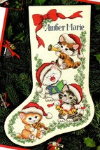 Dimensions Merry Kittens Cats Family Christmas Cross Stitch Stocking Kit... - $124.95