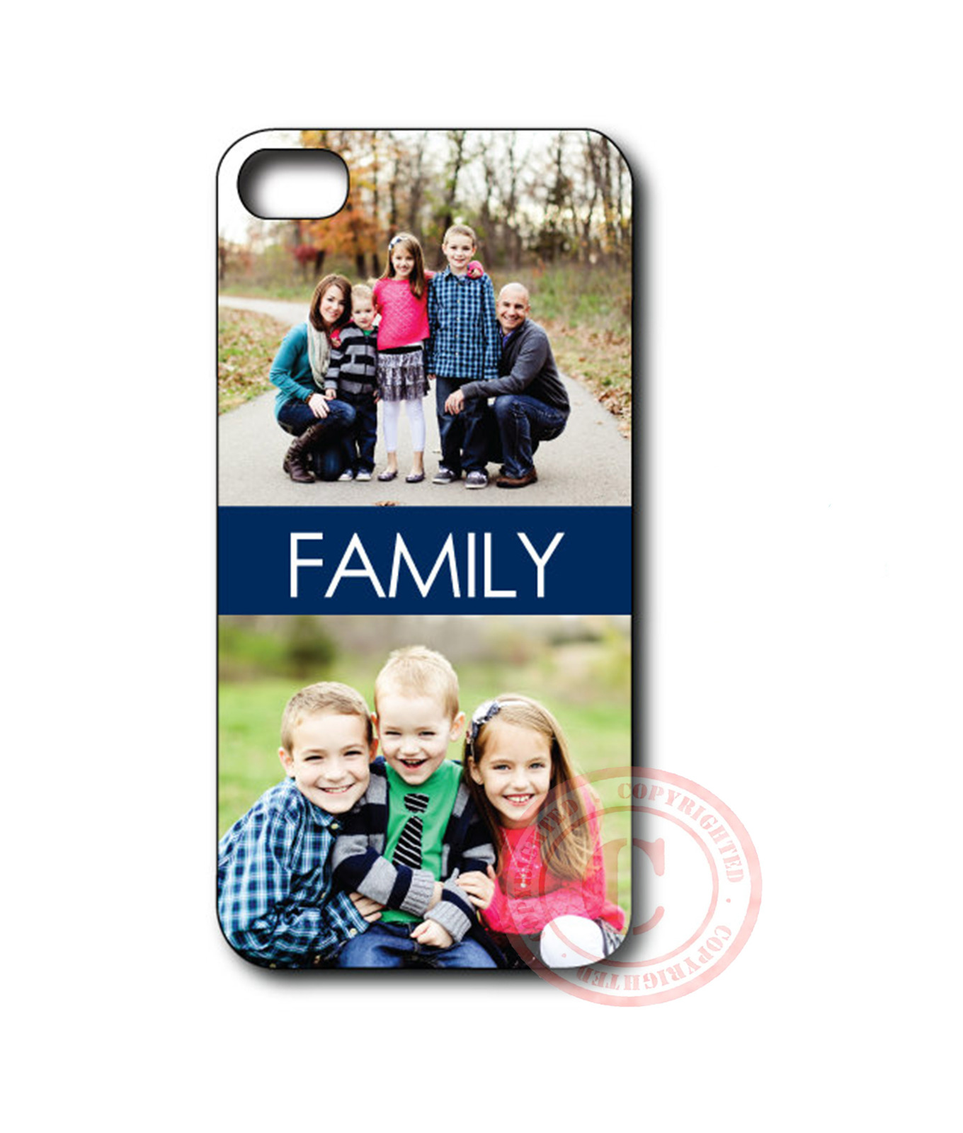 Custom Your Own Image Family Gift iPhone Case - Rubber Silicone iPhone 5 Case, used for sale  USA