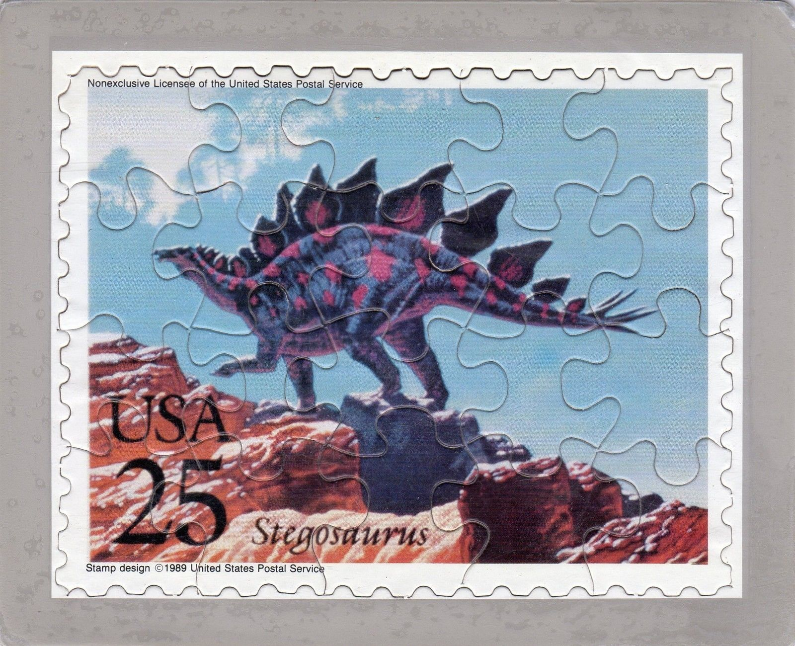 USPS POSTCARD - Dinosaurs Commemorative Puzzle series - STEGOSAURUS