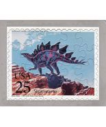 USPS POSTCARD - Dinosaurs Commemorative Puzzle series - STEGOSAURUS - $10.00