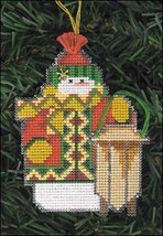 Sledder Snow Folks Ornament kit christmas perforated paper cross stitch kit - $5.40