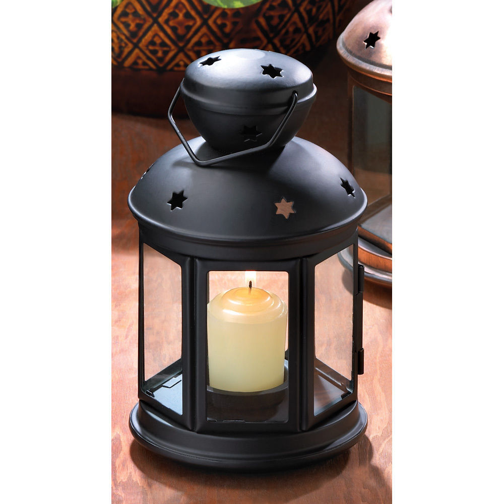 20 Matte Black Colonial Votive Candle Lamps Wedding Centerpieces Events