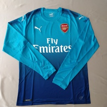 Arsenal Away Jersey 2017/18 Puma Fans Version Blue %100 Original - $39.00