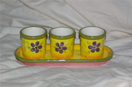PartyLite Flower Pot Trio Votive Holder Party Lite - $10.99