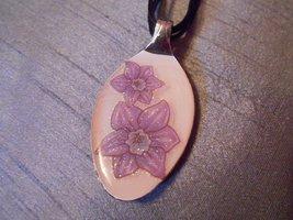 FLOWER FLORAL- Spoon Pendant / Necklace - $10.00