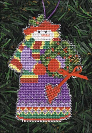 Primary image for Holly Snow Folks Ornament kit christmas perforated paper cross stitch kit