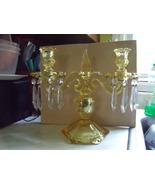 Heisey Sahara Yellow Pair Depression Glass 2 Light Candelabras - $3,000.00