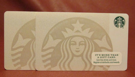 Lot of 2 Starbucks 2015 White Mermaid Gift Cards New with Tags - $5.76
