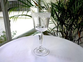 Set of 2 Waterford WAT54 Etched Crystal Wine Goblets Marquis Collection Signed - $14.85