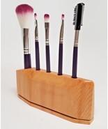 CLEARANCE SALE!!  Cosmetic Brush Kit in Geometric Cedar Wood Base Cedar - $19.79