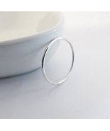 Thin Round Ring - 925 Sterling Silver Ring. - $15.60