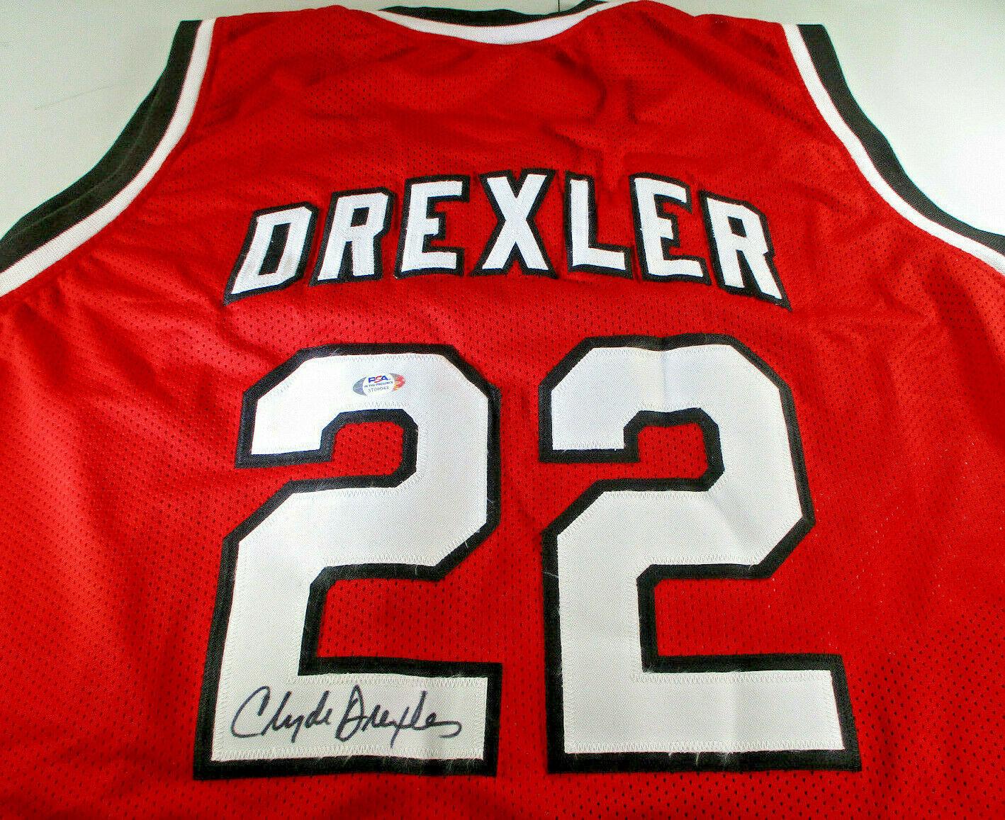 CLYDE DREXLER / NBA HALL OF FAME / AUTOGRAPHED TRAIL BLAZERS CUSTOM JERSEY / COA