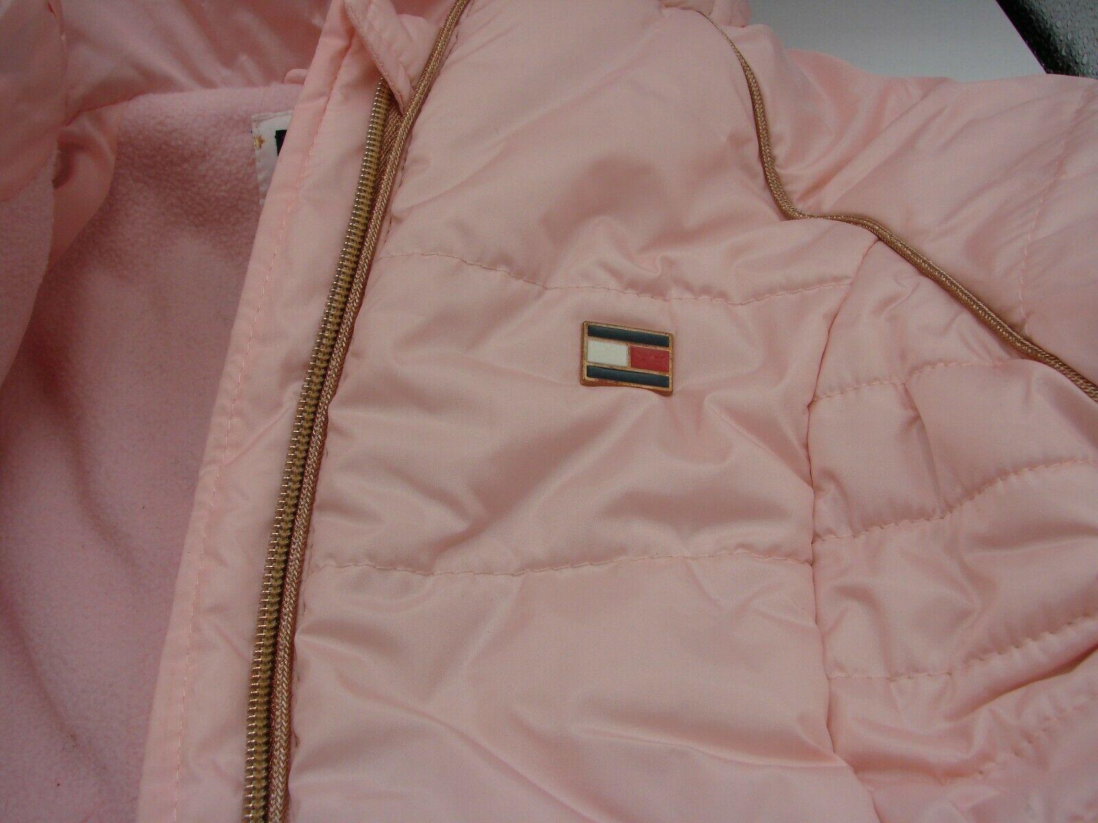 EUC Tommy Hilfiger Little Girls Hooded Puffer Jacket Size 5 Pink image 9