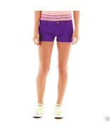 Arizona Bedford Cord Shorts Juniors Size 0, 15 New Msrp $34.00 Venus Violet - $12.99
