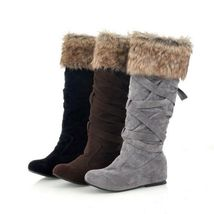Women's Designer Style Warm Fur Lined Winter Fashion Boots image 1
