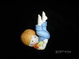 Enesco Little Girl Blue Jeans Porcelain Figurine 1981 - $48.15
