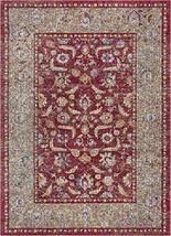 "Well Woven Vella Red Vintage Sarouk Design Area Rug 4x6 3'11"" x 5'3"" - $78.24"