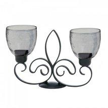 Fleur De Lis Duo Candle Stand - $35.77