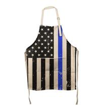 Distressed Thin Blue Line American Flag All Over Apron - $34.95