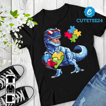 Autism Awareness Dinosaurus Puzzle T-shirt  - $21.99+