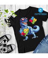 Autism Awareness Dinosaurus Puzzle T-shirt  - $21.99+