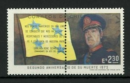 Chile Stamp General Rene Schneider Army Military Individual MNH - $7.52