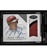 2015 Topps Dynasty Mike Trout Auto Jersey Patch #1/10 BGS 8.5 Nm-Mt+/10 ... - $950.00