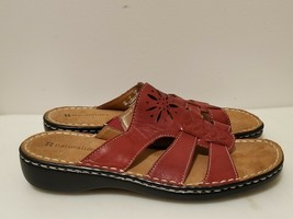 Naturalizer Carnival Red Leather Sandals For Women Size US 6 M - $13.96